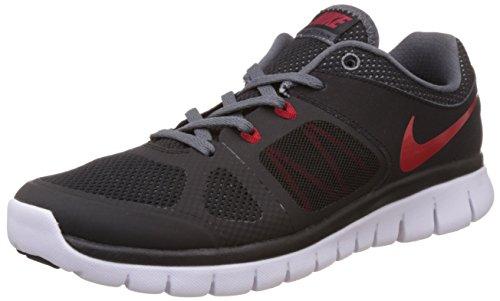 Nike Flex 2014 Rn 643241 Jungen Laufschuhe Training, Schwarz (Black/Gym Red-Dark Grey-White), 35.5