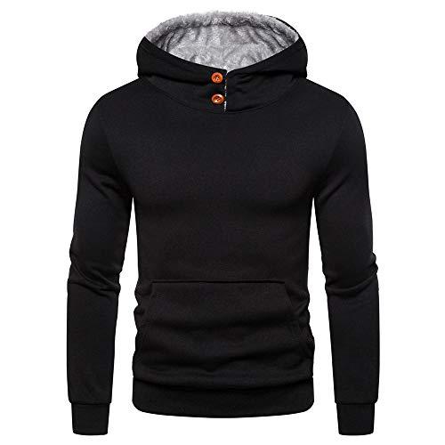 Discount boutique camicia con cappuccio da uomo a maniche lunghe a maniche lunghe calda autunnale e invernale casual giacca sportiva a maglia tinta unita con cappuccio tinta unita