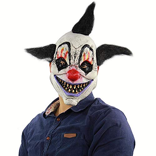 Circlefly Halloween Horror Zauberer Clown Maske Haunted Haus Zimmer entkommen Kleid bis beängstigend Perücke für Erwachsene Kinder