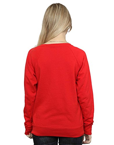 Harry Potter Femme Christmas Wreath Sweat-Shirt Rouge
