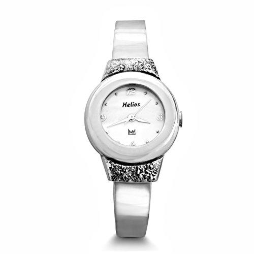 Handarbeit Classic Uhr Damen Armbanduhr massiv 925 Sterling Silber Chronograph #1926