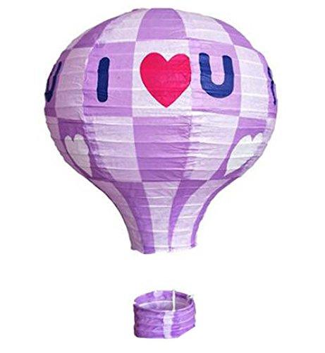 (Black Temptation Geburtstagsparty/Weihnachten/Ostern/Mall Dekoration hängen Papier Laterne Heißluftballon (lila))