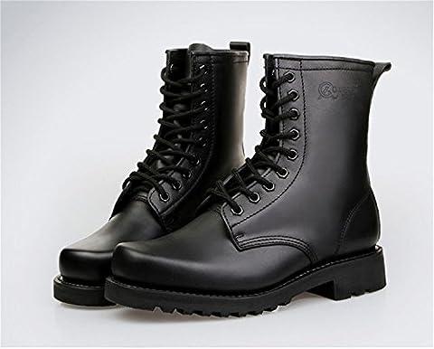 qiangren Combat Leder Stiefel Swat Military Tactical Deployment Herren Hohe
