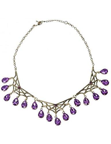 SMIFFYS Gothic Spiderweb Necklace