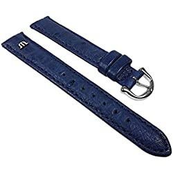 Maurice Lacroix Replacement Band Watch Band Ostrich Leather Strap blue 22627S, width:14mm