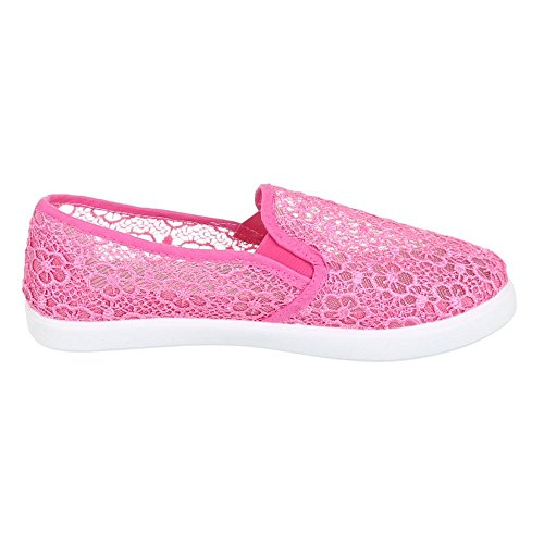 Damen Schuhe, AC-39, HALBSCHUHE SLIPPER MIT SPITZE Rosa AC-41-