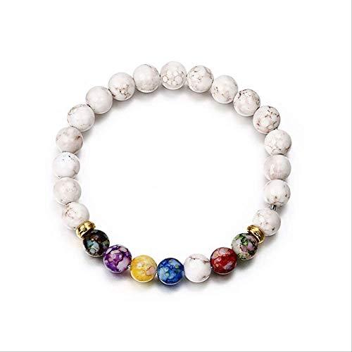 Wwjl braccialetto buddha chakra guarigione mara meditazione yoga gioielli donna braccialetto rotondo acrilico perline occhio di tigre