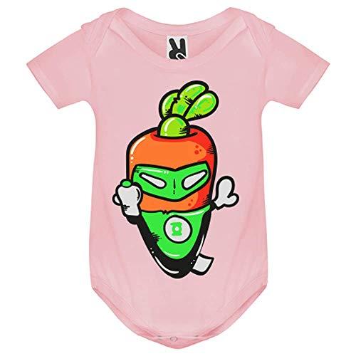 LookMyKase Body bébé - Super Carrot - Bébé Fille - Rose - 18MOIS