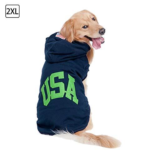 weizi720 Cálido suéter para Perros - Ropa de Invierno Perro Gato Cachorro Sudaderas con Capucha Sudadera Suéter Trajes