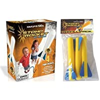 Stomp Rocket Junior Glow Kit with Extra Jr. Glow Rocket Refills Toy/Game/Play Child/Kid/Children