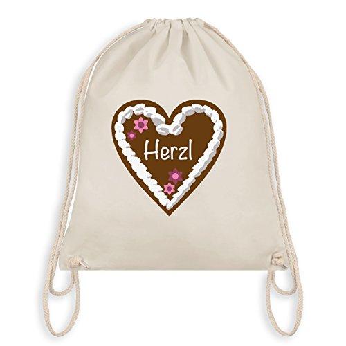 Ladies Oktoberfest - Gingerbread Heart Herzl - Borsa Da Palestra I Gym Bag Bianco Naturale