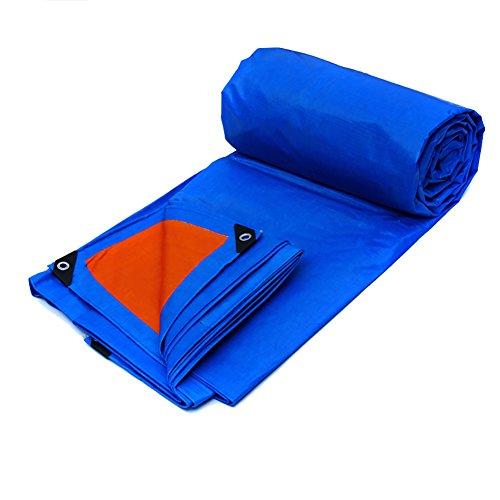 XUEYAN Bâche robuste épaissie double face imperméable conservateur de bâche antipluie épissure de tente auvent pare-soleil bâche de protection pour camion bâche couvre-sol tissu de remise - bleu, 155g