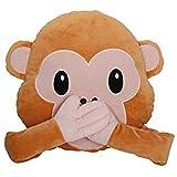 Pink Panther GmbH kostenloser Versand Bada Bing Emoji Kissen 1048 Affe Monkey Äffchen ø 30 cm Smiley Rund Sofa Couch Whats App Emotion