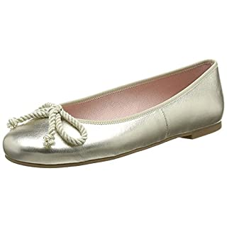 Pretty Ballerinas Women's Rosario Ballet Flats, Gold (Ami Tino), 8 UK 41 EU