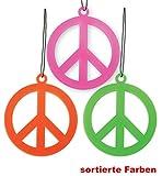 Peace-Kette, Schmuck, Karneval, Fasching, Mottoparty (pink)