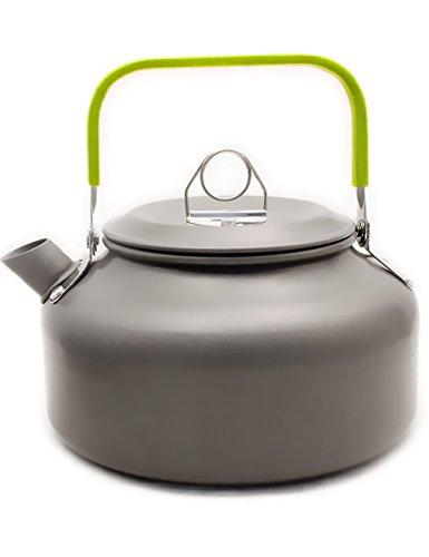 Outdoor Saxx - Tee Wasser Kaffee Kanne 800ml | Camping, Zelten, Grill Lagerfeuer | mit Deckel und Tragebeutel