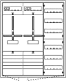 Zählerschrank, 2 x Zähler, AP, weiß
