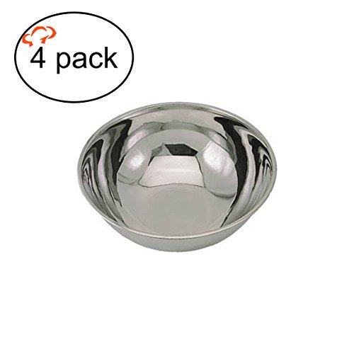 tigerchef tc-20463Heavy Duty Rührschüssel für privaten und gewerblichen Gebrauch, Best Prep Schalen für Kuchen, Teig 's, Salate, Pasta, Dressings, Edelstahl, 3/4Quart (4Stück)