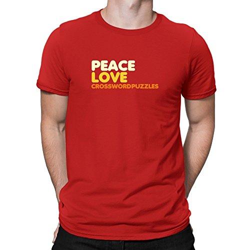 Teeburon PEACE LOVE Crossword Puzzles Camiseta