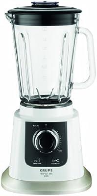 Krups KB 5031 Batidora de vaso Negro, Acero inoxidable, Transparente, Color blanco 1.5L 850W - Licuadora (Vidrio, Acero inoxidable)