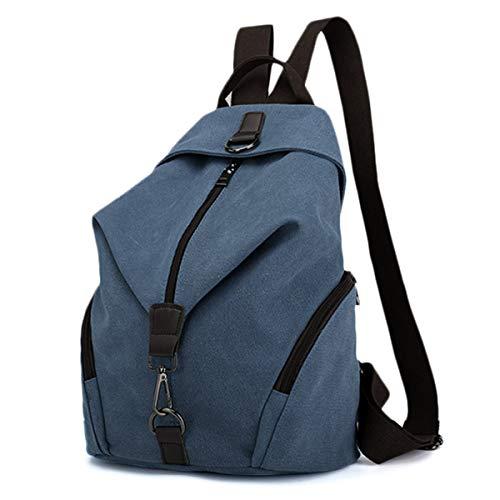 Frauen Leinwand Rucksack, JOSEKO Damen Umhängentasche Große Kapazität Reisetasche Casual Vintage Schultasche für Reise Outdoor Schule (Dunkelblau)