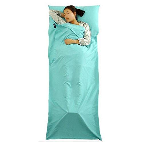 100-Baumwolle-Httenschlafsack-Leichtes-u-sehr-atmungsaktiv-Schlafsack-Anti-Milbe-Sommerschlafsack-Ideal-fr-Hostels-Berghtten-und-Jugendherbergen-210-x-75cm-von-BLF-Blau