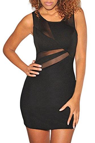 E-Girl femme Noir SY21498-2L mini robe Noir