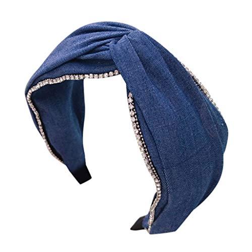 TTWOMEN Damen Haarreifen Frauen Stirnband Stoff Haarband Kopf Wickeln Zubehör Vintage Twist Knoten Wunderschön (C-1)