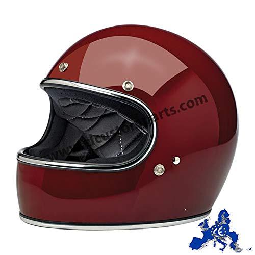 interno sfoderabile e lavabile CRUIZER Bianco, S chiusura con fibbia micrometrica Casco per moto e scooter Demi Jet omologato con doppia visiera