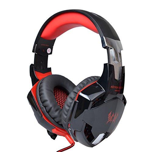 outowin-each-g2000-stereo-gaming-kopfhorer-mit-mikrofon-led-licht-bass-lautstarkeregelung-fur-pc-rot