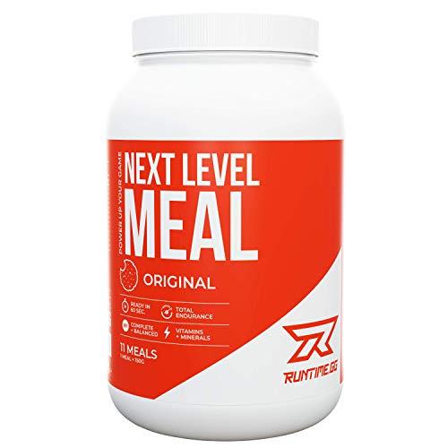 Runtime Next Level Meal Original - vollwertiger Nahrungsersatz, Sättigung (5-6 Stunden), Energie und Leistungsfähigkeit, mit Vitaminen und Nährstoffen und Aminosäuren, 1,65kg - 11 Mahlzeiten