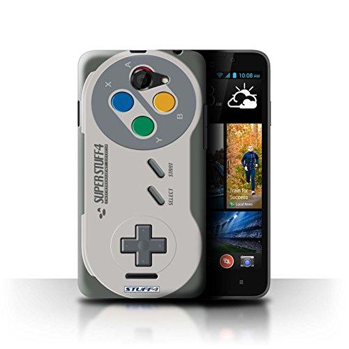 Stuff4 Hülle / Hülle für HTC Desire 516 / Super Nintendo Muster / Spielkonsolen Kollektion