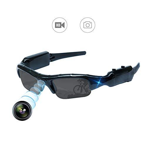 YAOAWE - Cámara de gafas de sol para exteriores, cámara de gafas, cámara de seguridad, vídeo, imagen, grabación de audio   Características:   Cámara deportiva al aire libre, gafas de sol, lente de protección de la luz, reduce la luz solar dir...