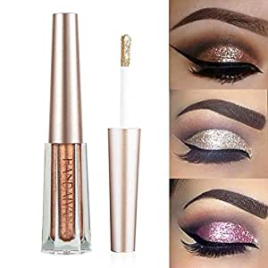 Handaiyan 6 Color Diamond Glitter Eyeshadow Palette Gold Shine Eyeshadow Glitter Shiny Eyeshadow Purple Blue Eye Shadows Eye Shadow