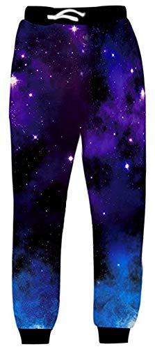 Uideazone, Bedruckte Jogginghose, unisex, graphisches Muster Gr. S, galaxy1