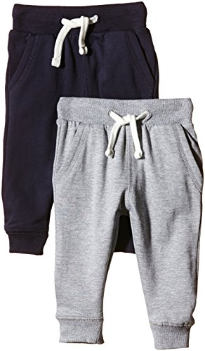 Graue Uniform-hose (Magic Kids Jungen Sweathose, 2er Pack, Gr. 98, Mehrfarbig (Dark Navy 778))