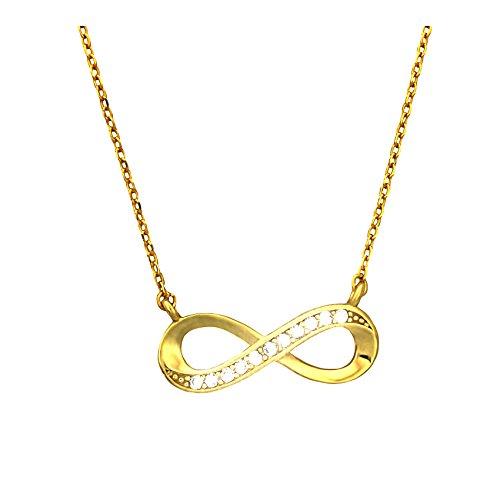 SOFIA MILANI Damen Halskette Unendlich Infinity Silber Vergoldet 50107