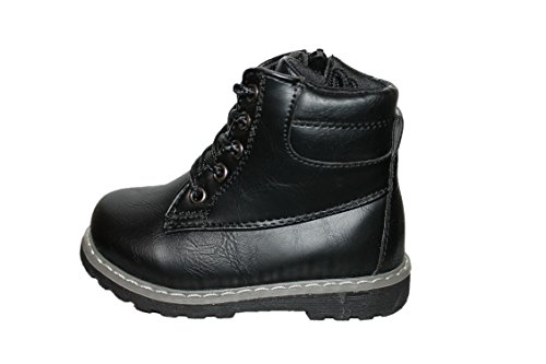 rock and joy boots brillante-noire-garçon