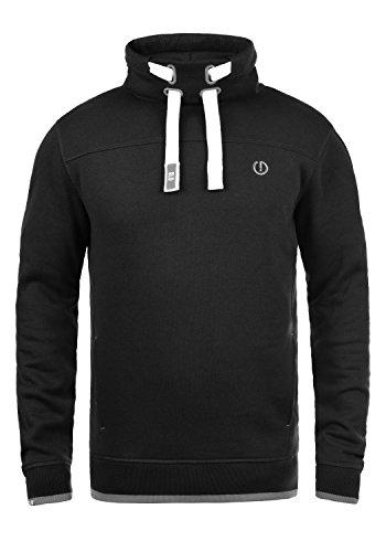 !Solid Benjamin Herren Sweatshirt Pullover Pulli Mit Stehkragen Und Fleece-Innenseite, Größe:S, Farbe:Black (9000)