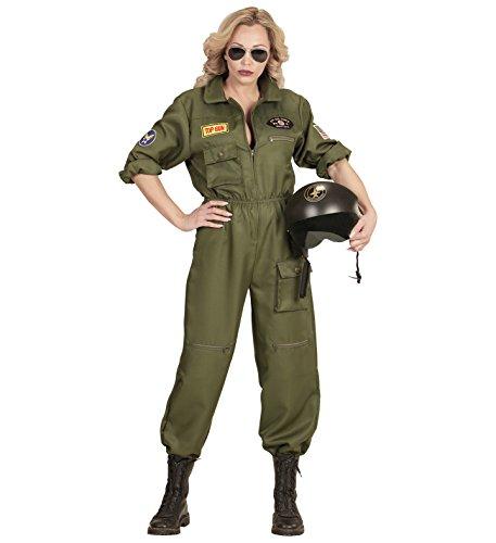 Widmann-WDM65541 Erwachsenenkostüm für Damen, mehrfarbig, WDM65541, - Kampfpilotin Kostüm