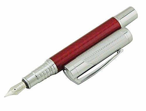 Erofa Filiwen Kohlefaser-mittlere Feder Füllfederhalter, Luxus schreiben Stifte (rot)