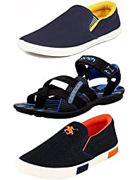 Maddy Men's Perfect Combo Pack of 3 Loafers & Sandals in various sizes