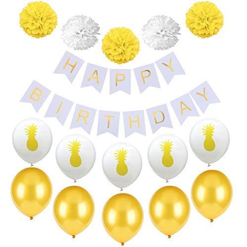 Wisilan Luftballon-Set aus Latex, Grün, 16-teiliges Ballon-Set für Urlaub, Beicht, Geburtstag, Abschluss, Party, Jahrestag Dekoration 12inch*10inch*2.5cm Gelb Grün 16-teilig