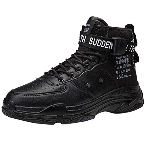 SuperSU-Sneaker ➦ Herren Mode Atmungsaktive High-Top Basketball Schuhe mit Elastic Band Persönlichkeit Casual Outdoor Laufeschuhe Männer Basketballstiefel Sneaker Sportschuhe
