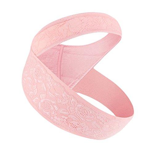 Dexinx cintura di maternità cintura di supporto per gravidanza fascia per la pancia traspirante cura regolabile supporto addominale traspirante culla prenatale per bebè pink l