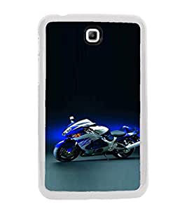 Fiobs Designer Back Case Cover for Samsung Galaxy Tab 3 (8.0 Inches) T310 T311 T315 LTE (Bike Motorcycle Cool Vehicle Swag Boy )