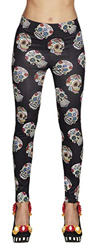 Boland 87863 Leggings Day of The Dead, Mehrfarbig, One Size (Men's Tag Der Toten Kostüm)