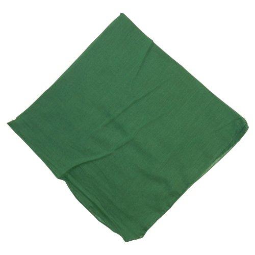 Halstuch 50x50cm Baumwolle 1A Qualität Einfarbig Bedruckbar Bestickbar Azofrei Uni Tuch Kopftuch Schultertuch Accessoire (1x, grün)
