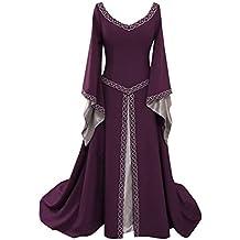 95d7994bc Disfraz Medieval para Mujer Vestido Manga Larga Bordado Renacentista Cosplay