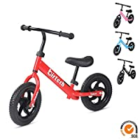 Balance Bike for 2,3,4,5,6 years old,stride walking bike No Pedal Bicycle with Adjustable Handlebar and Seat,red/pink/black/blue